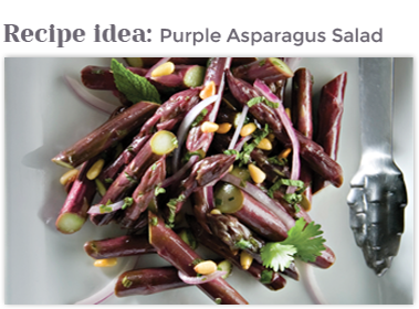 Purple Asparagus Salad