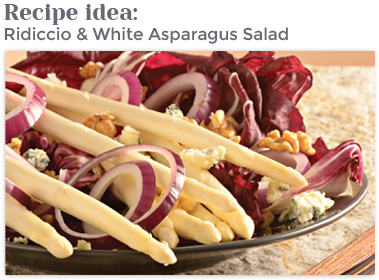 Ridiccio & White Asparagus Salad